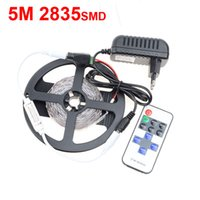 Wholesale RGB M SMD s LED Strip light keys Mini RF Wireless Remote Controller V dc A Power EU US Supply more Brighter