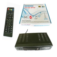 Cheap Wholesale-Digital HD Satellite DVB-T2 DVB-S2 combo TV Receiver Support IPTV YouTube CCCAM IKS Bisskey WIFI Dongle DVB T2 USB TV Tuner