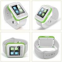 Bluetooth Smart Wrist U Montre SmartWatch U9 avec bracelet détachable Podomètre Baromètre Thermomètre pour iPhone Android Phone