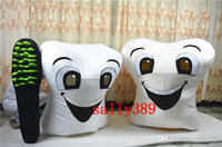 Wholesale 2017 hot New teeth mascot high quality cartoon costume white adult size fancy dress party carnival parade