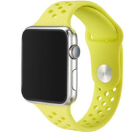 Wholesale Colorful watch Silicone Band Connector Adapter Clip For iPhone iWatch Apple Watch Silicon Strap Sport Buckle Bracelet smart watch GSZ217