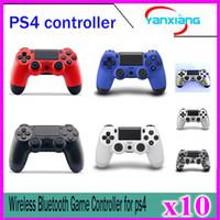 achat en gros de bons jeux vidéo-10pcs GOOD Quality Bluetooth ps4 contrôleurs sans fil Game Game PS4 Controller pour Dualshock YX-PS4-01