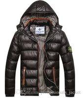 acrylic jacket - 2016 Mens Winter Coat Winter Stone Jacket Men Cotton Brand Clothing Jackets Parkas Mans ISLAND cotton Coats