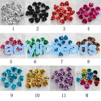 Wholesale 8MM Colorful Assorted Aluminum Flower Rose Spacer Beads Metallic Flower Charms Earrings Craft DIY
