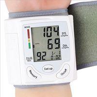 Wholesale Portable Home Digital LCD Wrist Blood Pressure Monitor Heart Beat Rate Pulse Meter Measure