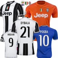 Wholesale 2016 juven home away RD HIGUAIN MARCHISIO DYBALA MANDZUKIC DANI ALVES BUFFON CHIELLINI juve soccer jerseys Thai Quality football shirts