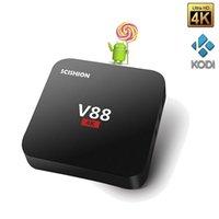 beat media - V88 Andorid TV Box RK3229 chip K Android OTT G G Quad core Set Top Media Player Kodi pre installed Wifi Lan Internet Beat MXQ