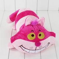 0-12 Months alice hot toys - cm Hot Selling Cartoon Soft Stuffed Alice in Wonderland Cheshire Cat Plush Doll Pink Soft Toy Animals Plush Toys for Kids