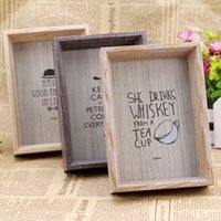 Wholesale Solid Wood Photo Frame Picture Frame Home Decoration Gifts Creative Furnishing Articles Log Nature Picture Frames Types Optional