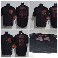 Wholesale 2017 Men New Chicago Cubs Cool Base Kris Bryant Anthony Rizzo Javier Baez Jersey Spring Training Baseball Stitched Black Jerseys