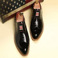 apartment free office - New men s fashion dress shoes men apartment patent leather shoes leisure Oxford wedding shoes