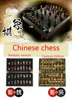 Wholesale Cartoon Resin material Hand painted Chinese chess Gifts with Chinese characteristics