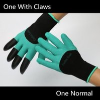 Wholesale Garden Gloves For Digging Planting Unisex Cut Resistant Nitrile No Worn Out Fingertips Unisex Claws Left Hand Claws Patent Pending