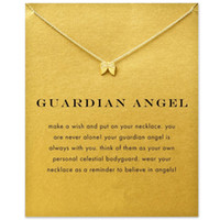 Wholesale Hot Sale guardian angel angel wings necklace gold plated Pendant necklace Clavicle Chains Statement Necklace Women Jewelry