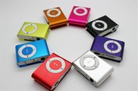 Wholesale Mini Clip MP3 Player without screen Colorful Sport mp3 music player Come with Earphone USB Cable Retail Box Support Micro SD TF Cards