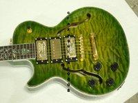 Precio de Guitarra de la mano izquierda verde-Guitarras zurdas Guitarra eléctrica verde 3 guitarras de mano de las guitarras de la guitarra de la tienda de encargo de China