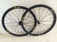 Wholesale 38mm c Road Carbon Racing Clincher Wheelset Holes Basalt Brake Surface Sapim Cx ray Spokes