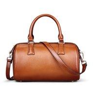 Sac à bandoulière en cuir de marque de concepteur de Boston Sac à main en cuir véritable de femmes Sacs à bandoulière de luxe de sac à main de Brown de mode