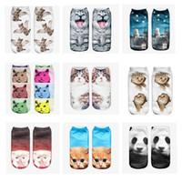 Wholesale cat D Fashion Printing Women Men Unisex Socks animal Pattern Meias Feminina Funny Low Ankle Socks