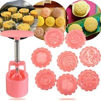 barrel mold - New DIY D Cartoon Flower Love Round Mooncake Mold Barrel Stamps For Cake Decoration Tools