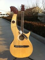 acoustic harp - Double neck acoustic electric harp electric guitar with strings and EQ in stock