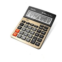 Deli multifonctionnel Portable Business Office Calculatrice commerciale Prononciation Calculatrice de voix efficace Gros boutons 12 chiffres écran