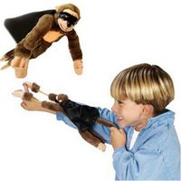 Wholesale Super Stretchy Plush Toys Monkey Sling Shot Toys Slingshot Bow Catapult Hunting Kids Adults Slingshot Screaming Flying Monkey