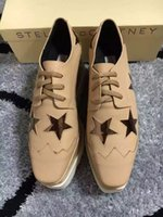 apricot upper - Stella Mccartney Shoes Apricot Color Genuine Leather Upper with Bronze Color Stars White Sole Low Top Stars Shoes