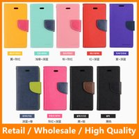 Wholesale Mercury Hybird TPU Leather Wallet Leather Case for LG K7 Tribute inch with Card Slot Credit Card Holder Cell Phone Case