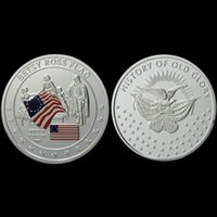 american art history - American Stars Stripes USA Betsy Ross Flag History K Silver Plated Coin Token