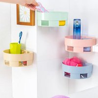 Wholesale hot sale bathroom accessories multifunctional basket rack wall hanging bathroom shelf storage box storage tools