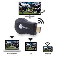 Anycast M2 Plus <b>Android TV Stick DLNA</b> Airplay WiFi Display Miracast Dongle HDMI Multidisplay 1080P Receptor AirMirror Mini TV Wifi inalámbrico