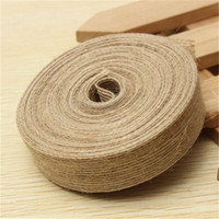 Wholesale Wedding Party Decor Custom Jute Burlap Colorful Natural Ribbon Hessian Trims Tape Rustic Roll Accessories For Decoration