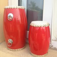 ancient chinese games - Long Type Chinese Ancient Musical Percussion Instruments Drum Cowhide children game toy