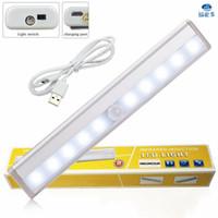 Wholesale 2016 New arrival led body sensor lamp light white human induction tube cabinet showcase wardrobe kitchen lighting