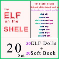 best selling books - 2016 Best selling DHL Style Christmas Elf Doll Plush toys Elves Xmas dolls and Soft Back Books on the shelf Christmas Gift