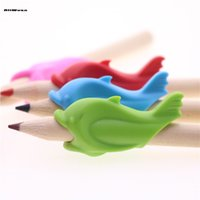 Wholesale Stationery Accessories Topper Color Silicone Material Pencil Holder Kids Learning Writing Correction Supplies