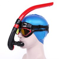 Wholesale wimming Diving Snorkels Swimming Front Snorkel Silicone Full Dry Breathing Tube For Diving Swimming Training Swimming Spearfishing Aqualu