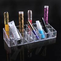 Wholesale Acrylic Lipstick holder Cosmetic Makeup Lipstick Storage Display Stand Case Rack Holder Organizer Makeup Case
