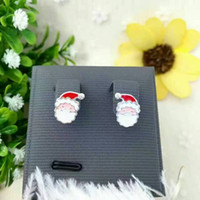 Wholesale Women Earrings Fine Sterling Silver Jewelry Santa Claus Snowman Lovely Tree Bell Christmas Jewelry Earring For Women Best Gifts