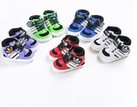 Wholesale New baby fashion shoes children soft soled PU shoes months non slip Candy colors boys and girls toddler shoes pair