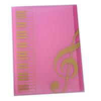 Hot Selling Bolsillos Música Hoja Folleto Hoja De Música Hoja De Plástico A4 Tamaño 40 Bolsillos - Rosa