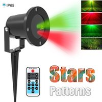 Wholesale Laser Star Light Show - Christmas Laser Projector Outdoor Garden Star Light IP65 Waterproof IR Remote Control Show Red Green Laser Lights RG Decorations Lawn Lamps