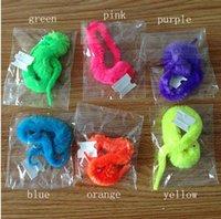 6 Colores Plush Magic Twisty Worm Niños Truco Juguetes Caterpillar Juguetes Niños Niños juegos mágicos Juguetes Navidad Party Novelty Game