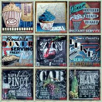 Wholesale 30 cm desert drink beer Nostalgia Sign Wall Decor Vintage Craft Art Iron Painting Tin Poster Cafe Shop Bar Club Home Decorate