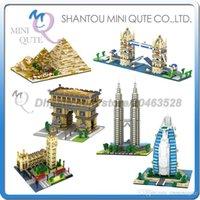 al arab - DHL Mini Qute YZ Burj Al Arab Tower Bridge Triumphal Arch plastic building block brick model Action Figure educational toy