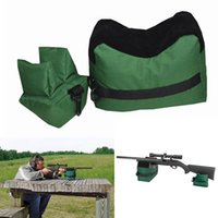 bench rests - Portable Shooting Rear Gun Rest Bag Set Front Rear Rifle Target Hunting Bench Unfilled Stand Hunting Gun Accessories