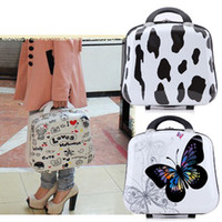 Wholesale Portable cute cartoon cosmetic bag mini suitcase