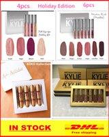 Wholesale 2016Kylie Holiday Edition Birthday Edition Lipsticks Chrismas Kylie lip kit Gold Metal Matte lipstick KoKo Collection Lipgloss DHL Free