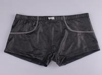 Wholesale J416 JQK Mens Leather Boxer Shorts Mans Sexy Underwear